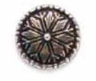 Skacel Metal Button - Pewter Norwegian Star Rose Button 17mm