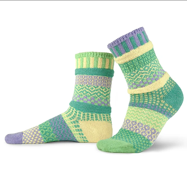 Solmate Crew Socks Chick-A-Dee *NEW COLOR*