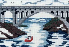 Doherty Designs Depoe Bay Bridge Counted Cross Stitch Kit