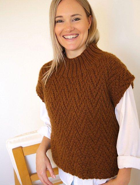 Ella Rae Pattern Saffron Pullover Top