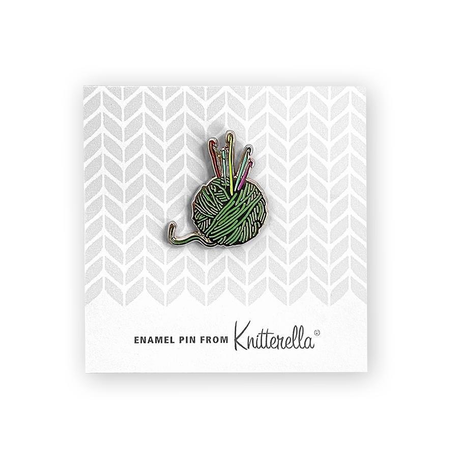 Knitterella Enamel Crochet Pin