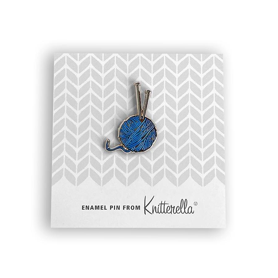 Knitterella Enamel Knit Pin