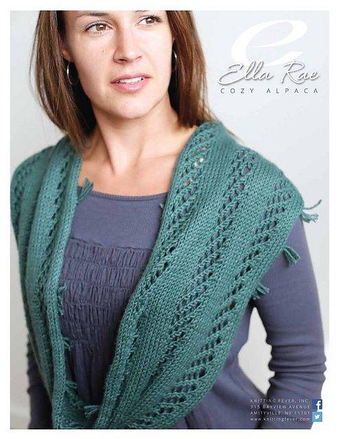 Ella Rae Pattern Lace and Rib Cowl