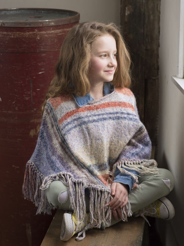 Berroco Pixel - Fern Child's Poncho PDF