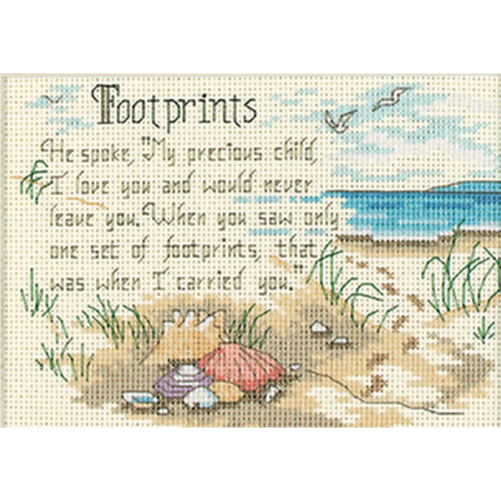 Dimensions/Jiffy Mini Counted Cross Stitch Kit 7x5 - Footprints
