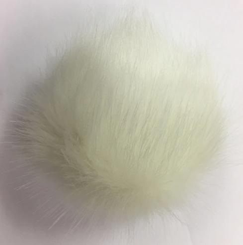Large Faux Fox Snap On Pom Pom