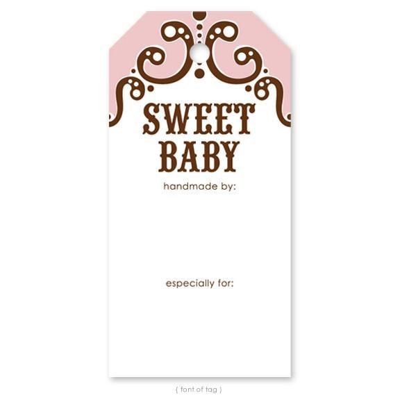 Knitterella Gift Tag Sweet Baby