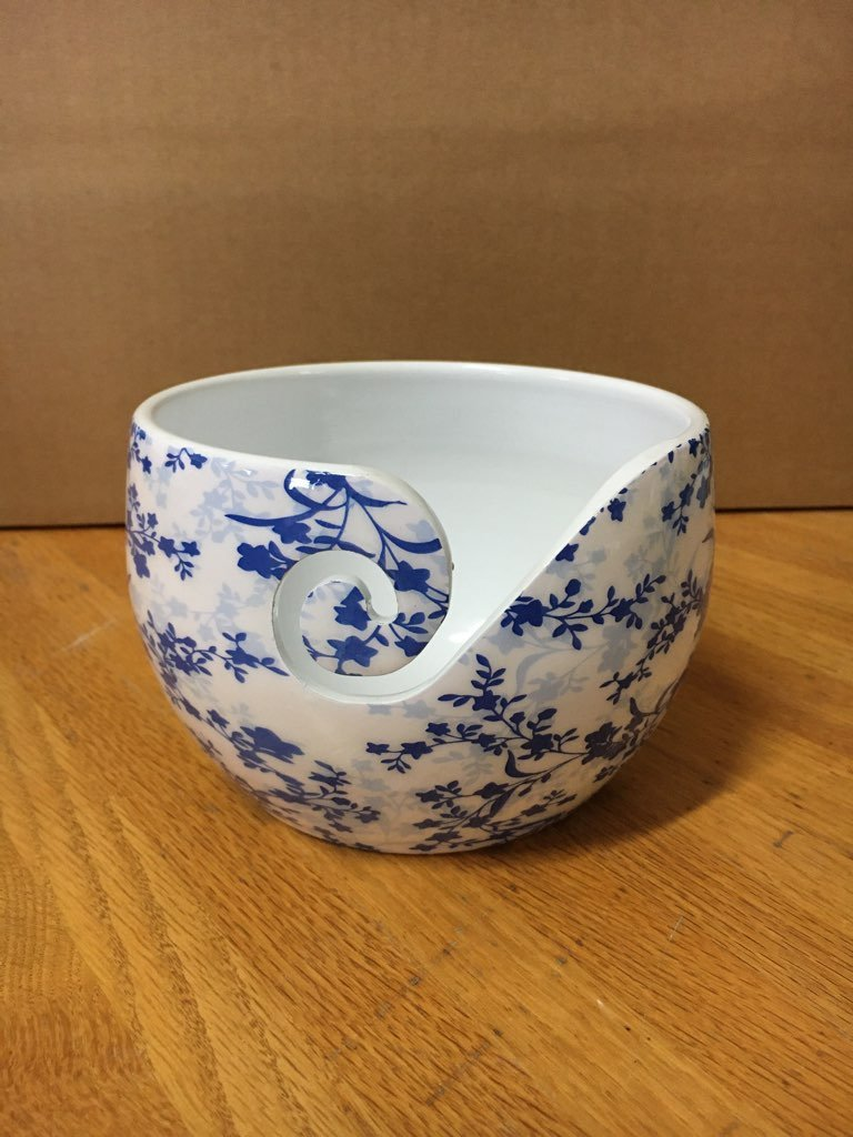 Yarn Bowl Blue & White