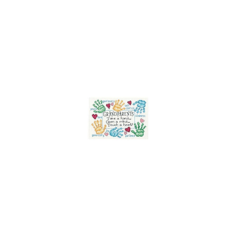 Dimensions Mini Counted Cross Stitch Kit 7X5 - Grandparents Touch The Heart