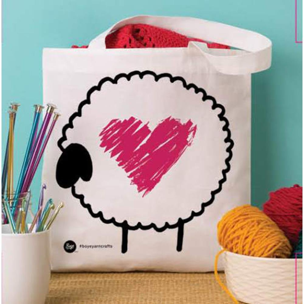 Heart Sheep Tote Bag