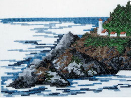 Doherty Designs Heceta Head Lighthouse Counted Cross Stitch Kit