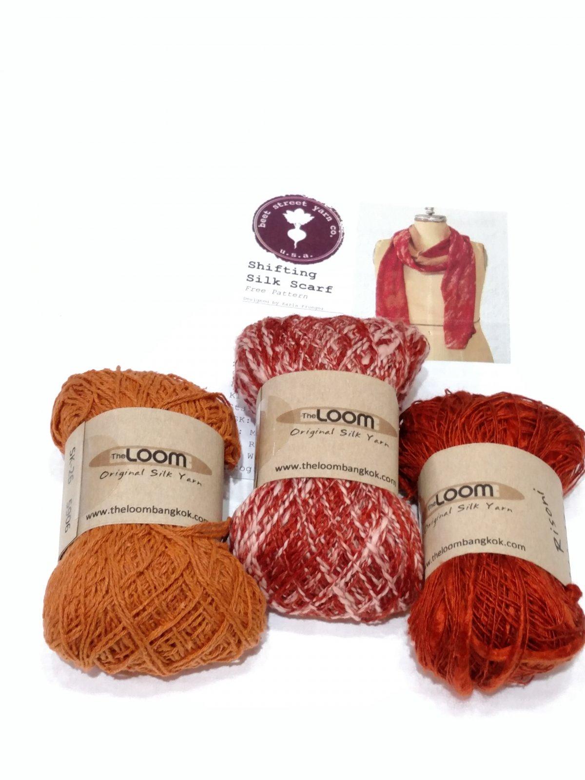 Loom Shifting Silk Scarf Kit