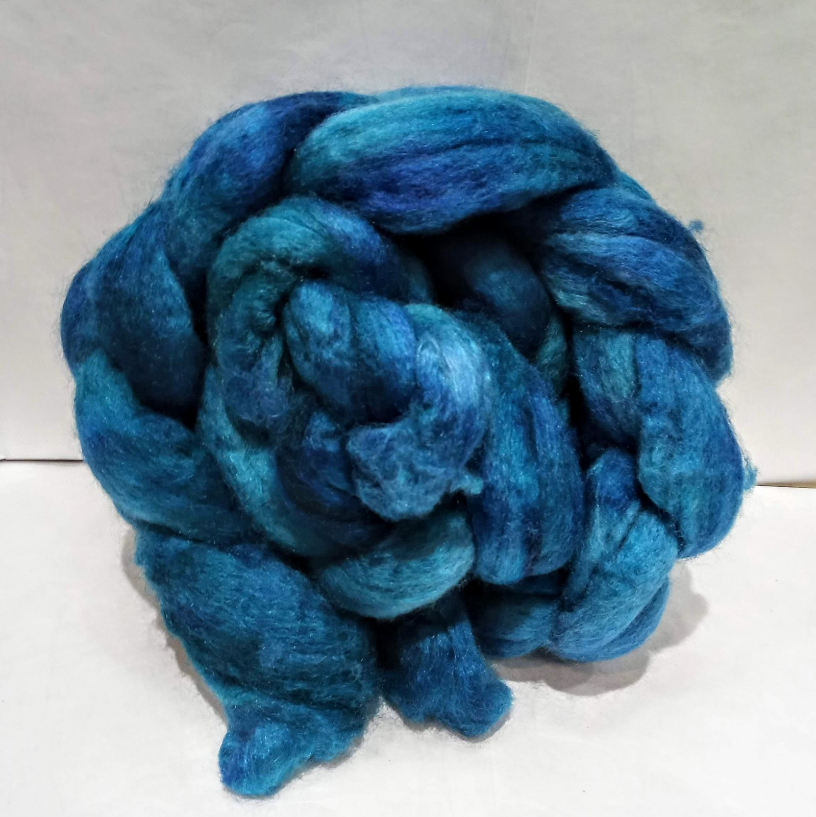 Blue Moon Fiber Arts Blueface Leicester and Tussah Roving