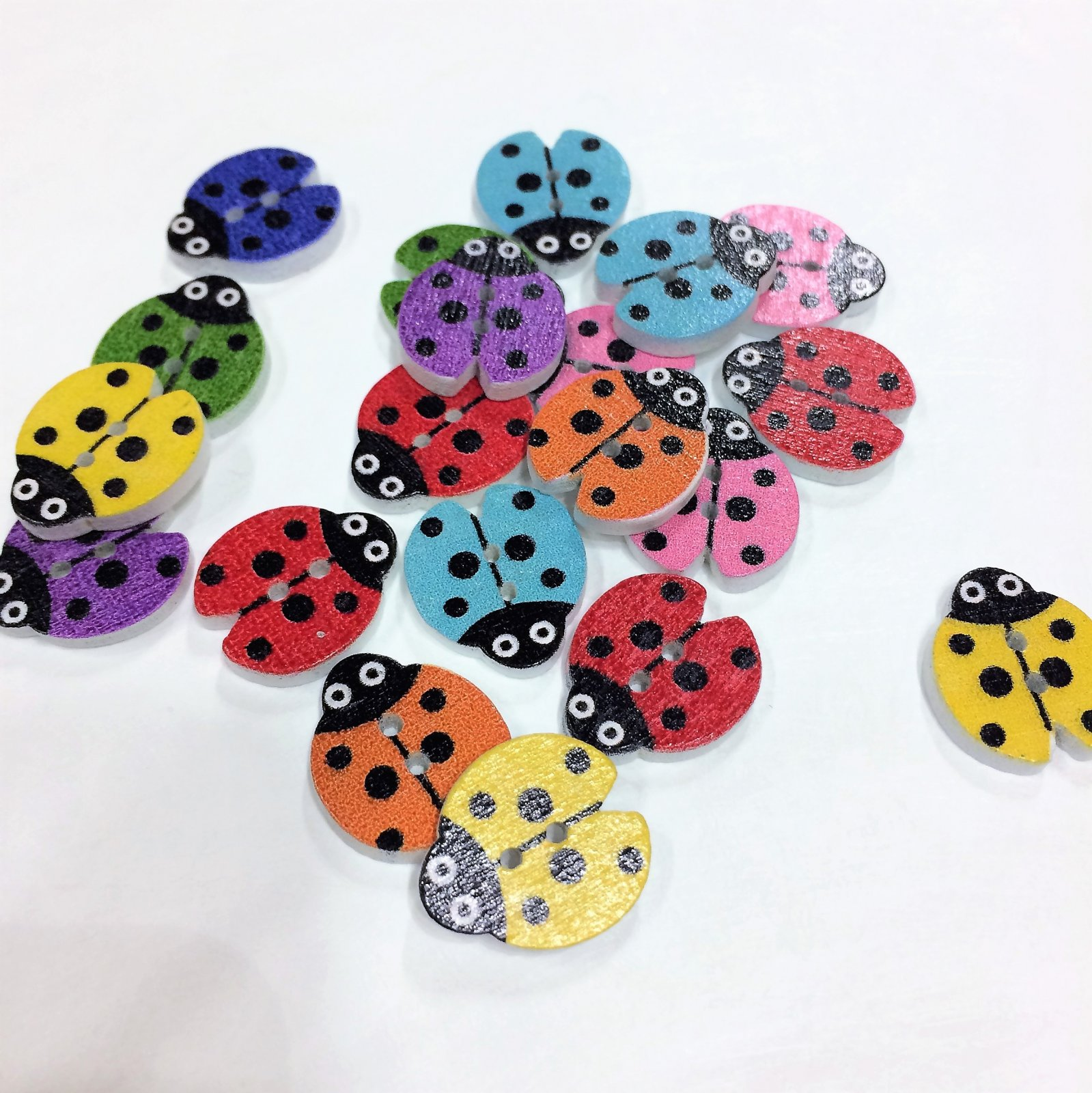 Wood Ladybugs - Assorted Colors