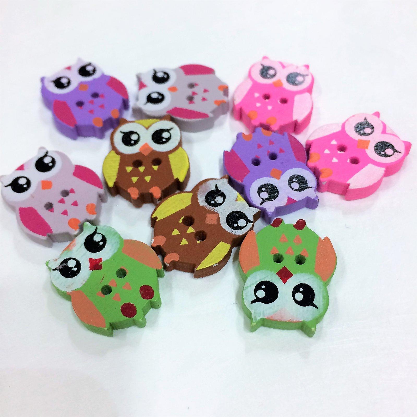 Wood Owls - Assorted Colors