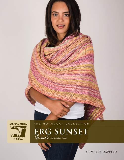 Cumulus Dappled Erg Sunset Shawl