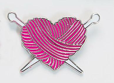 Knitting Heart Enamel Pin