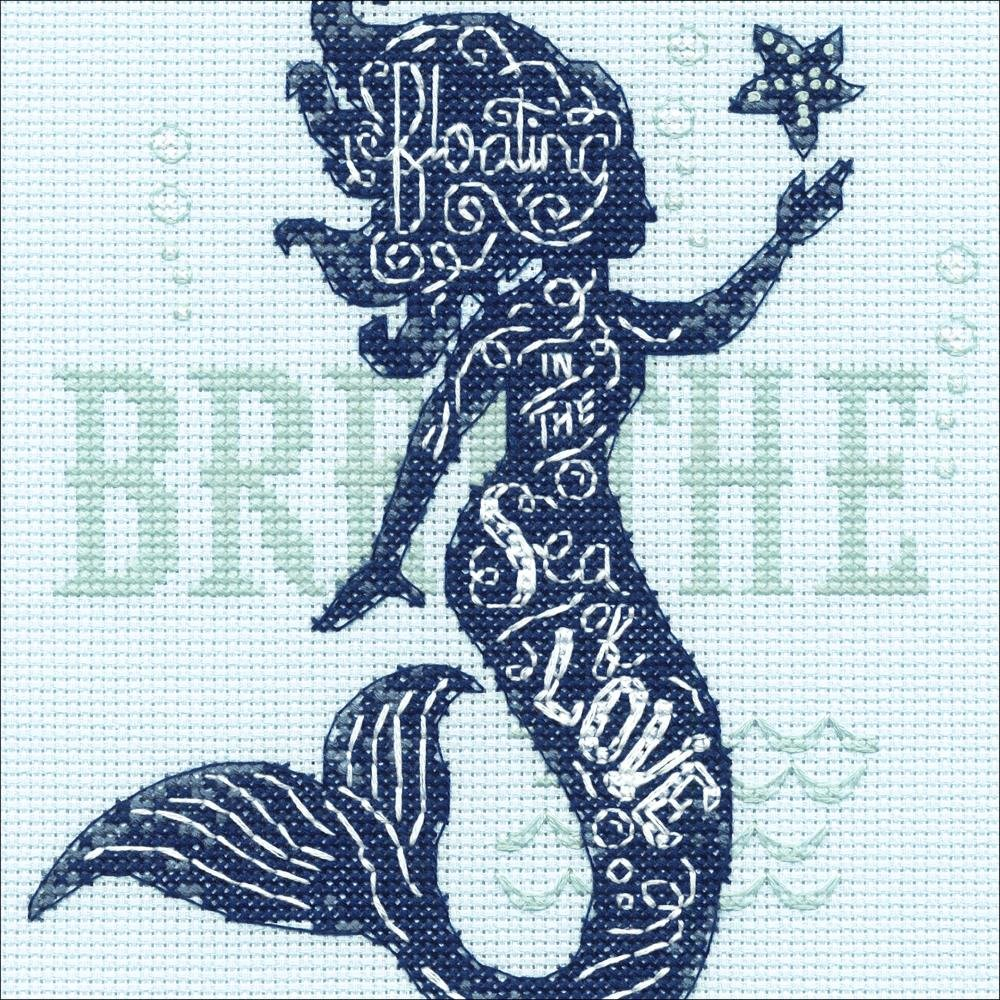 Dimensions Counted Cross Stitch Kit 6X6 - Mermaid