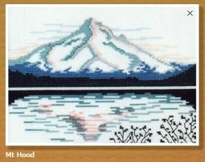 Doherty Designs Mt. Hood Counted Cross Stitch Kit