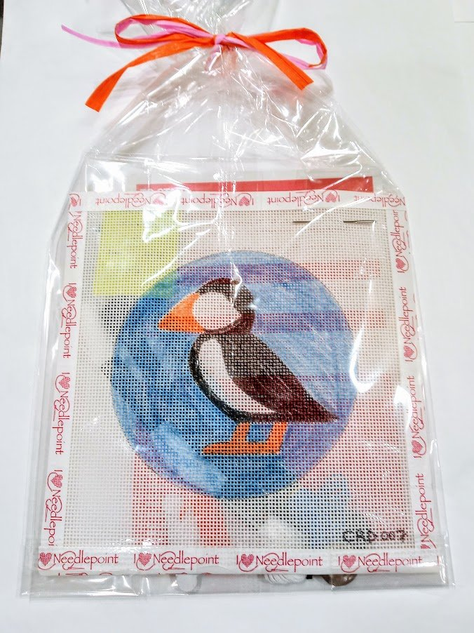 Christy Ragan Needlepoint Puffin