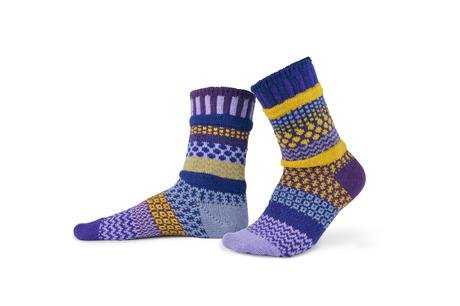 Solmate Crew Socks Purple Rain