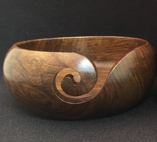 Teak Wood Yarn Bowl 6 x 2.5