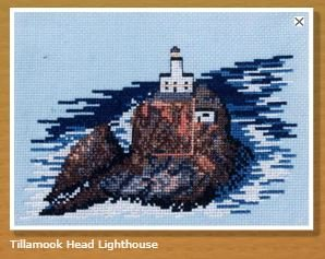 Doherty Designs Tillamook Head Lighthouse Counted Cross Stitch Kit