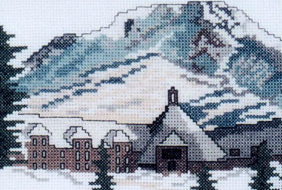 Doherty Designs Timberline Lodge Counted Cross Stitch Kit