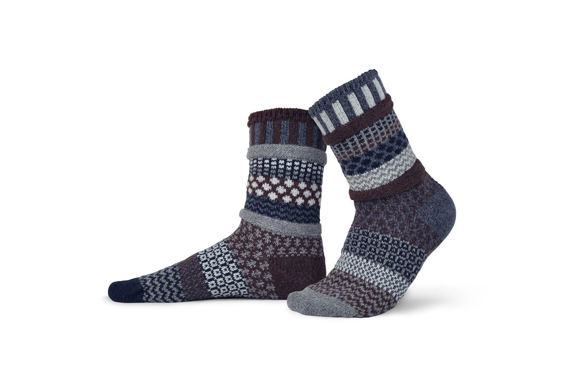 Solmate Wool Crew Socks Mahogany
