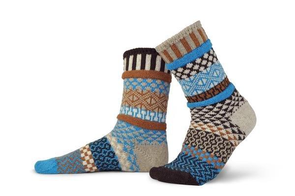 Solmate Wool Crew Socks Walnut