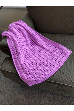 Nako Natural Bebe Shell Flower Crochet Baby Throw
