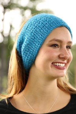 Plymouth Viento Knit Below Headband Pattern