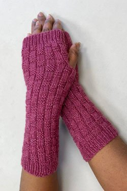 Plymouth Electra Lite Textured Fingerless Gloves