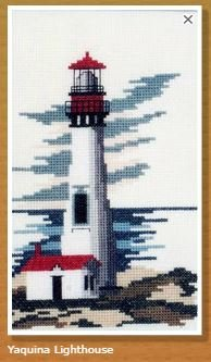 Doherty Designs Yaquina Lighthouse Counted Cross Stitch Kit