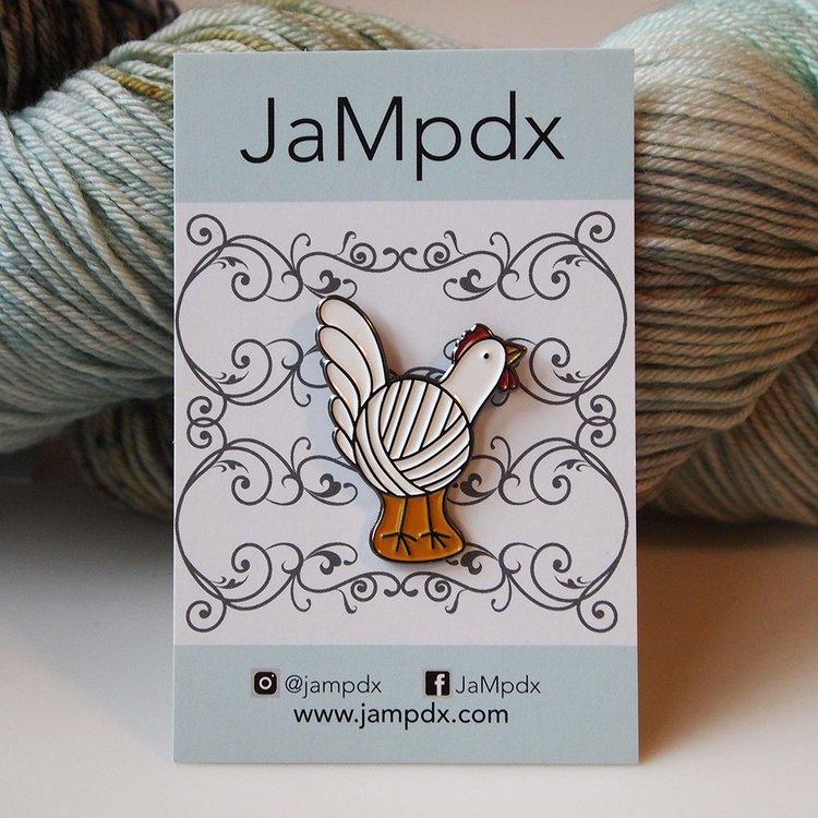 JaMpdx Yarn Chicken Pin