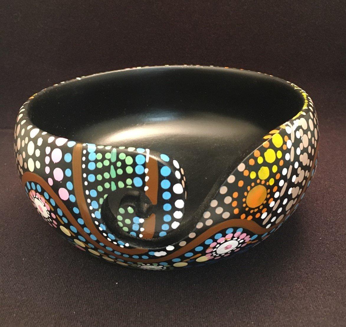 Handpainted Yarn Bowl 7x3