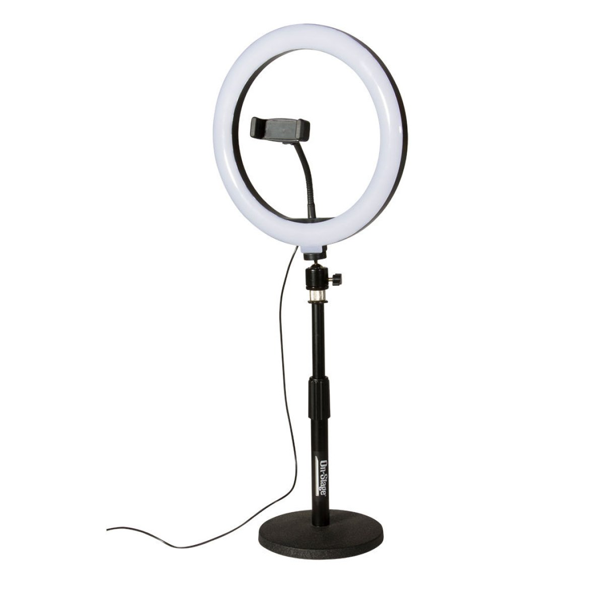 OnStage VLD360 LED RING LIGHT KIT: 10, CLAMP, REMOTE, 2 STANDS