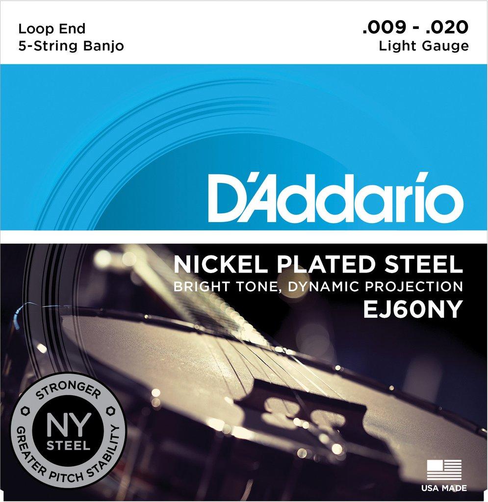 D'Addario EJ60NY Light Banjo Strings (9-20)