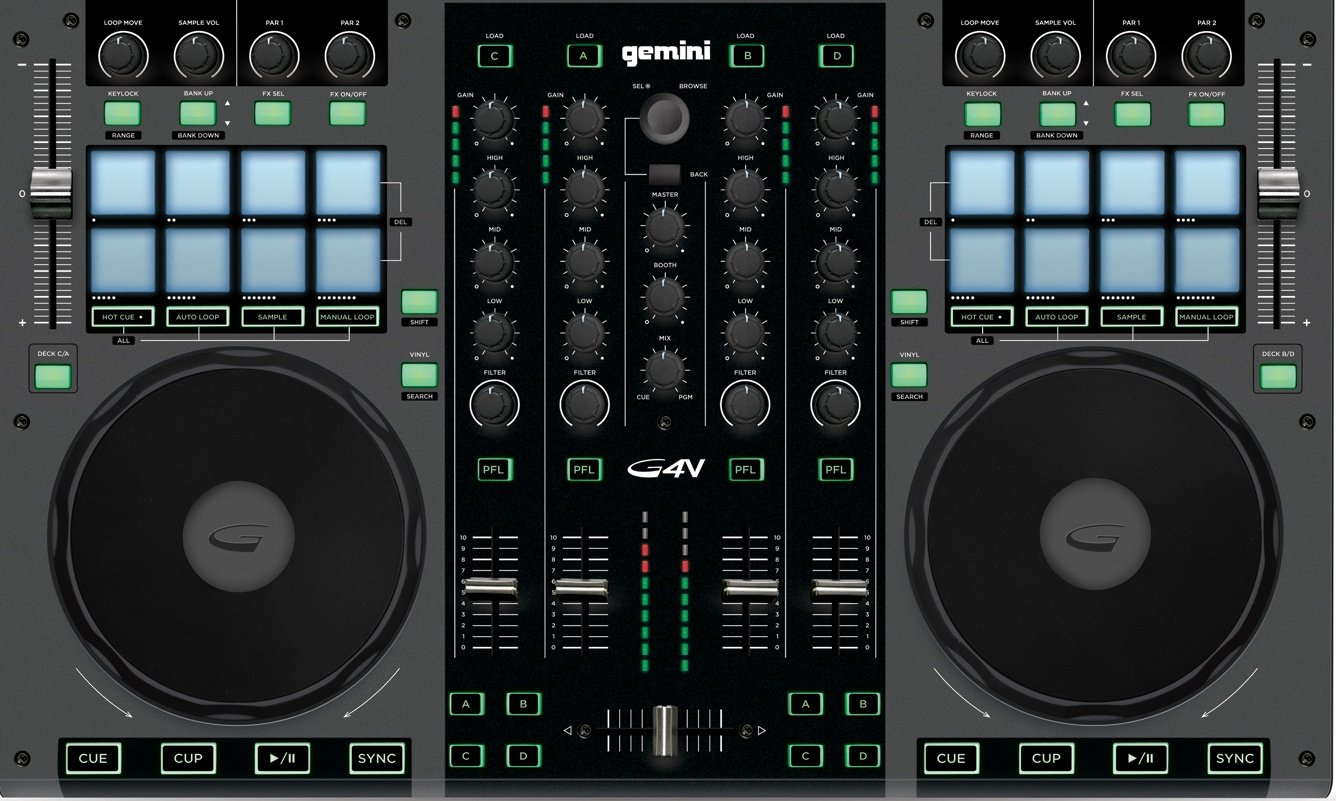 Gemini G4V 4 Channel Professional Audio Controller