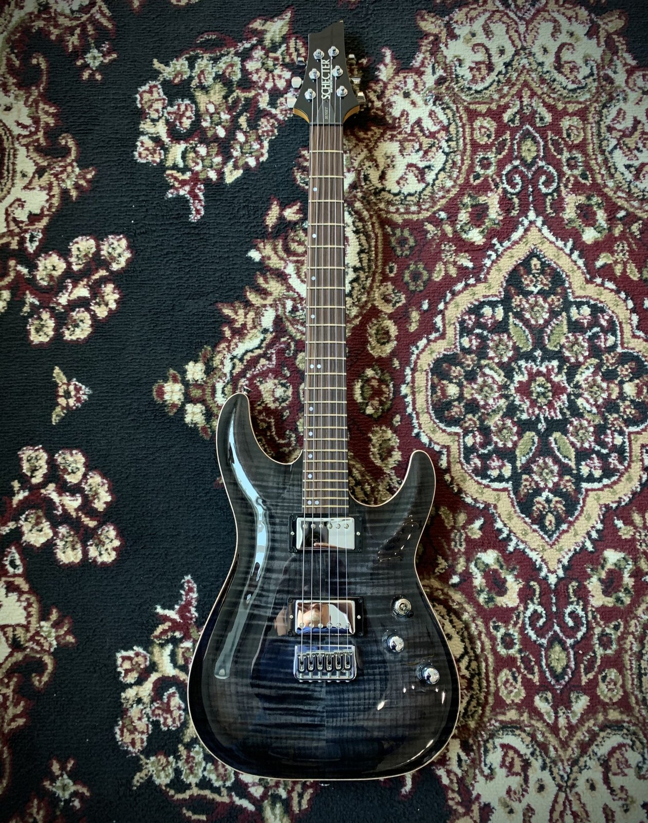 Schecter USA Custom Shop Sunset Classic II - Trans Black