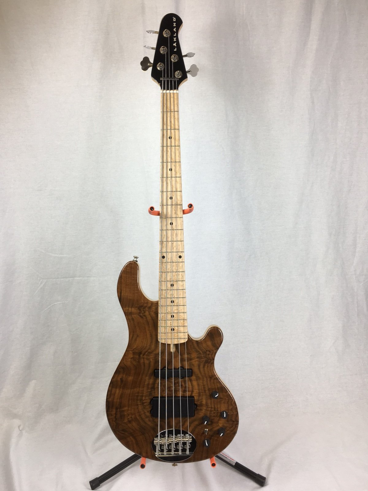 Lakland US 55-94 Deluxe B Stock - Exotic Top - Burl Walnut with Birdseye Maple fingerboard
