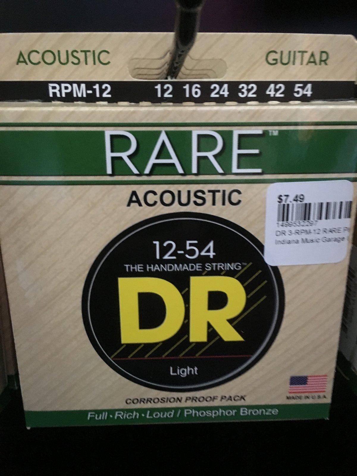 DR  RPM-12 RARE PHOS BRONZE STRINGS