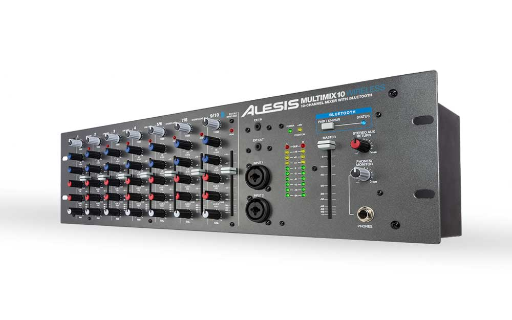 Alesis MultiMix 10 Channel Rack Mount Mixer w/ Bluetooth