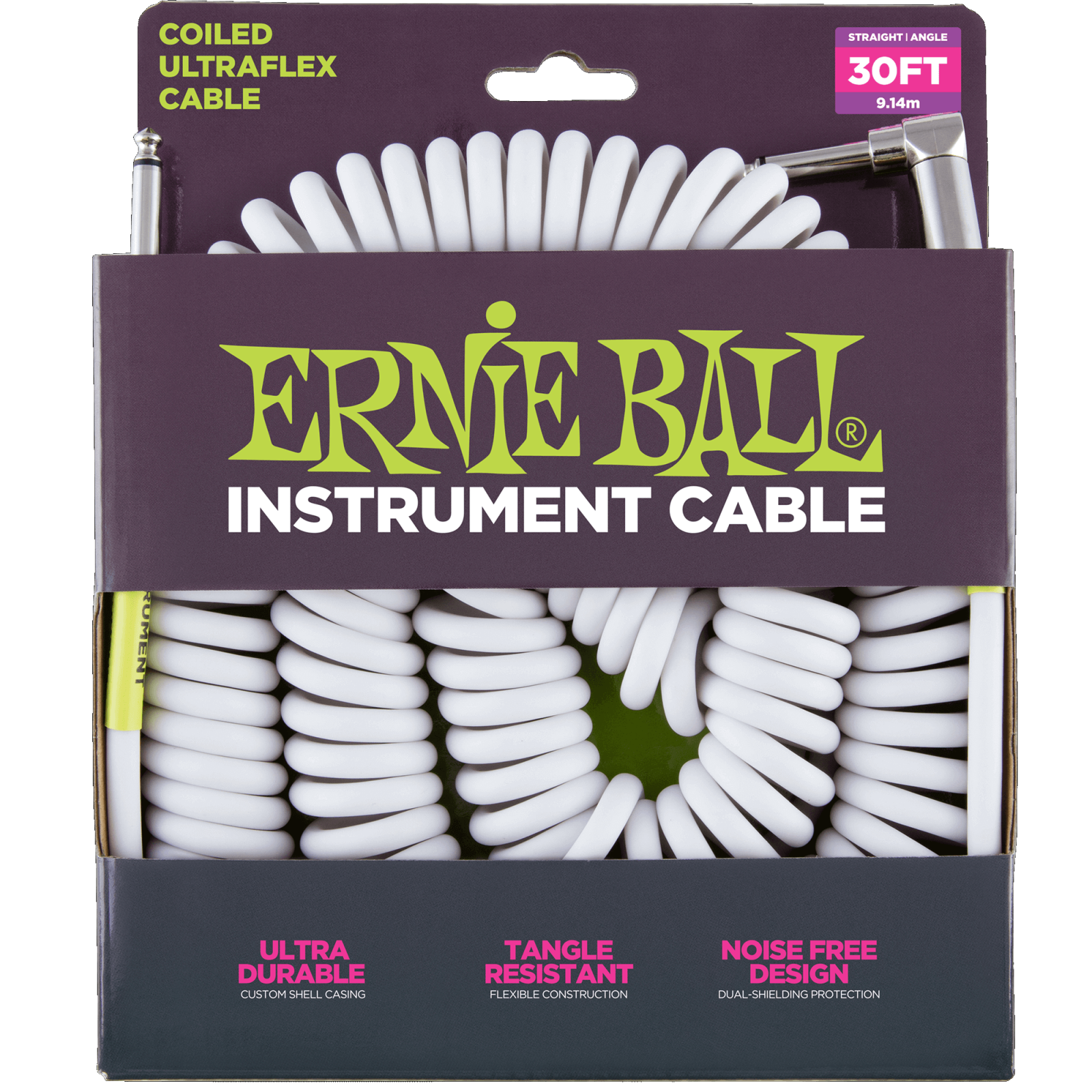 Ernie Ball Coiled Ultraflex Instrument Cable 30ft