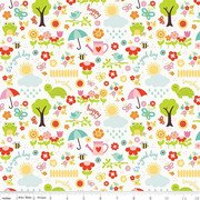 Bloom April Showers-White Flannel