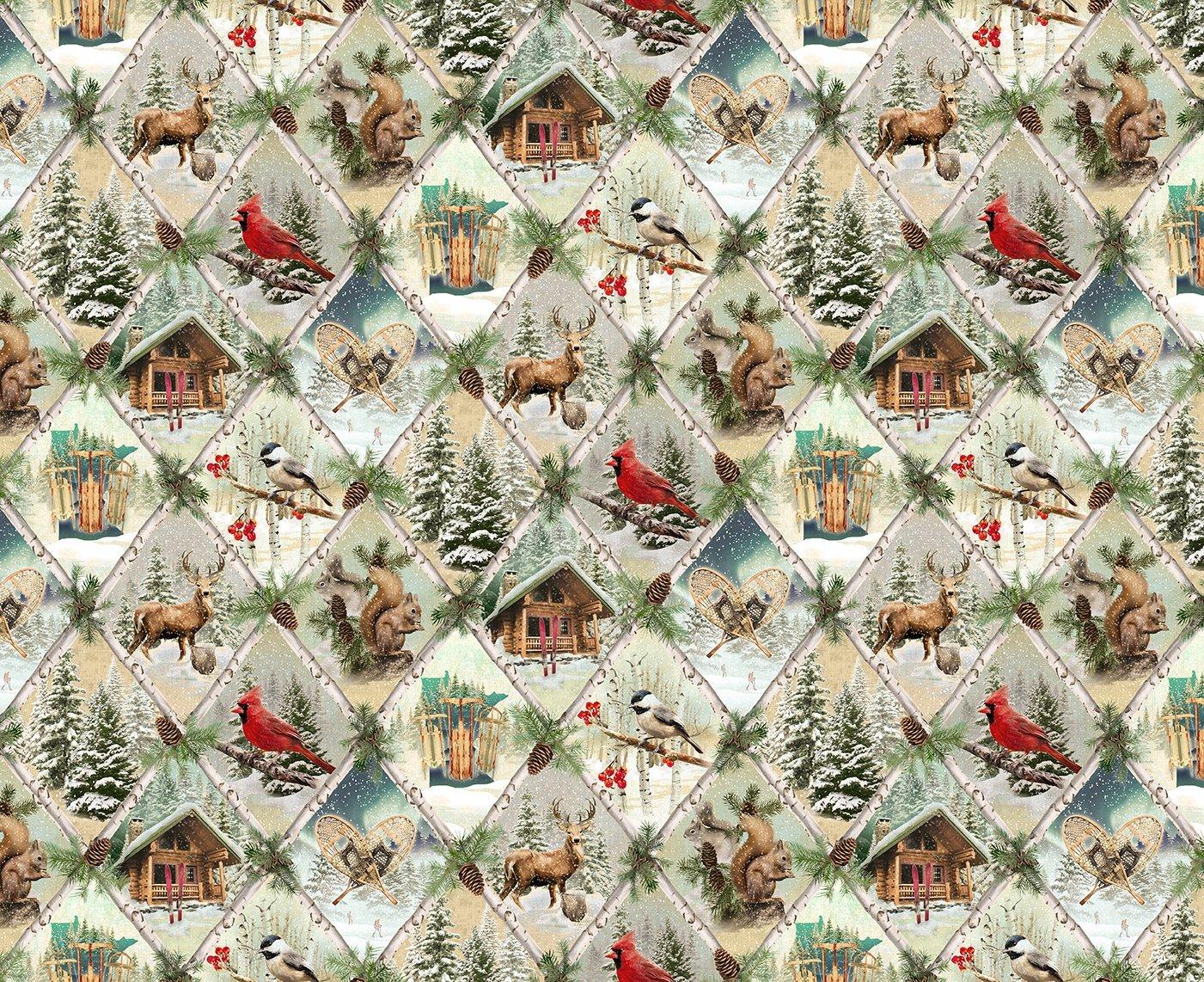 Quilt Minnesota 2021 Digital Nature Scenes LIght Caramel Y3314-64