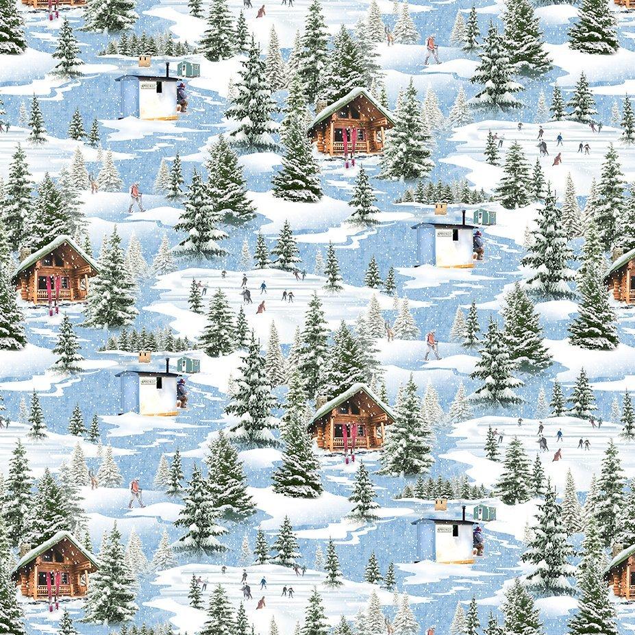 Quilt Minnesota 2021 Digital Winter Toile Blue Y3316-90
