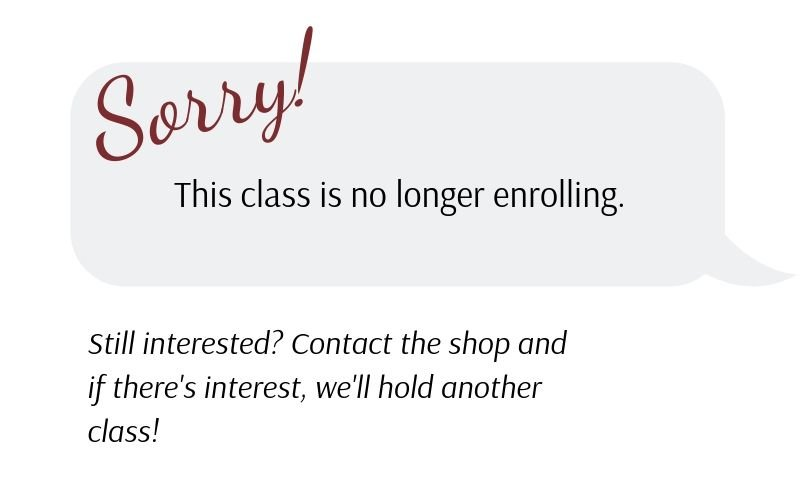 Sorry! This class is no longer enrolling.