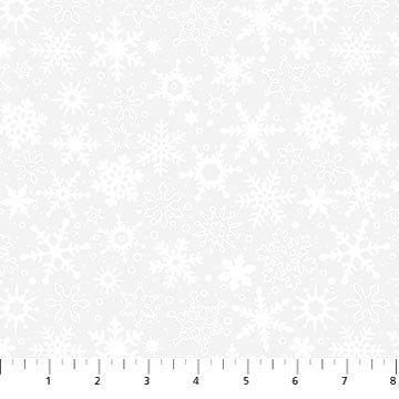 Snowfall white on white- 10011-10