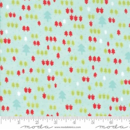 Vintage Holiday Aqua Flannel by Bonnie and Camille for Moda  55163 13F